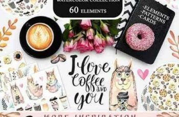 1802284 Watercolor Coffee Collection 2152114 4