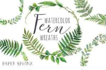 1802290 Watercolor Fern Wreaths 2205010 3