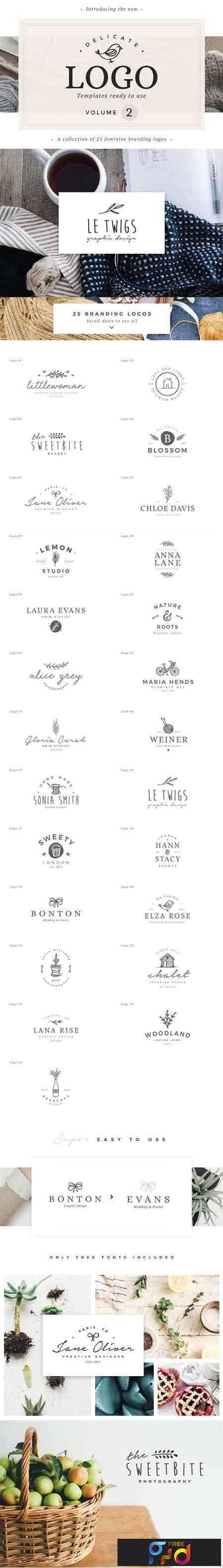 1803022 25 Delicate Feminine Logos - Vol 2 2118779 1