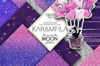 1803047 Violet & Pink Glitter Textures 2140390 4