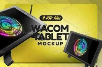 1803048 Wacom Graphic Screen Tablet Mockup 2017252 6