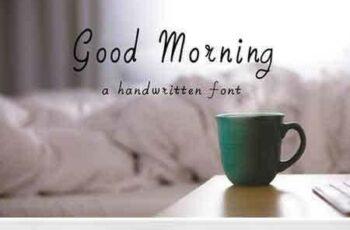 1803062 Good Morning Handwritten Font 2122171 4