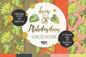 1803092 Linen & Philodendron Seamless Papers 2125087 4