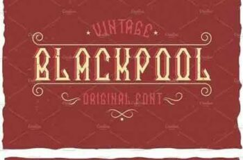 1803100 Blackpool Vintage Label Typeface 1499445 5