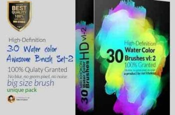 1803106 Hi-Res Water color PS Brush Set-2 1498779 5