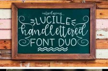 1803109 Lucille Hand Lettered Font Duo 87352 4