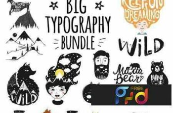 1803125 Big Typography Bundle (9 Sets) 2123827 7