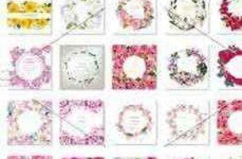 1803127 Bundle of 35 Watercolor Flower Frame 2123001 3