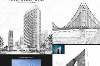 1803135 Architecture Sketch Art Photoshop Action 21403946 3
