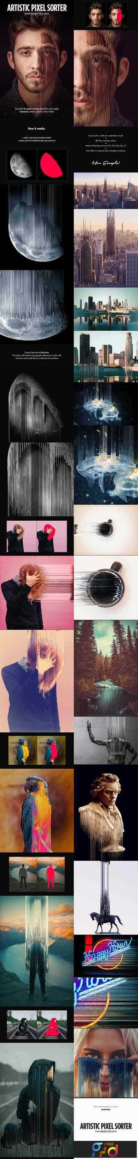 1803141 Artistic Pixel Sorter - Photoshop Actions 21379481 1