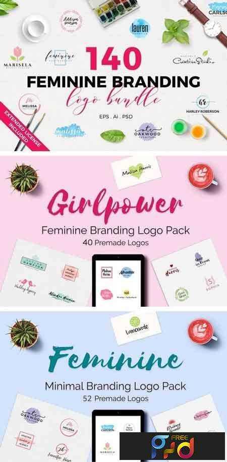 1803152 140 Feminine Branding Logo Bundle 1466875 1