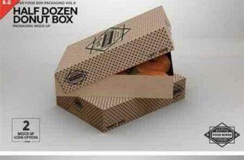 1803184 Half Dozen Donut Box Mock Up 2181807