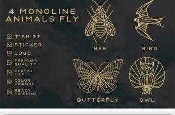 1803190 Monoline Fly Animals 2182195 7