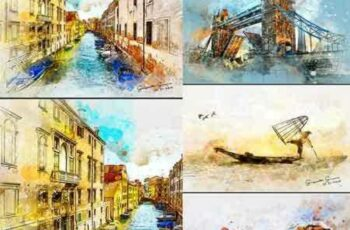 1803198 Watercolor 2 Artist Photoshop Action 21313459 6