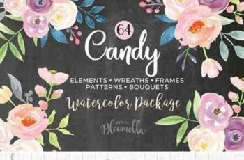 1803209 Candy Pastel Watercolor Flower Pack 2227773 5