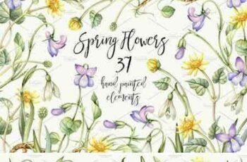 1803233 Watercolor Spring flowers. Easter 2227497