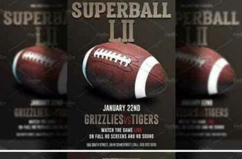 1803236 American Football Super Bowl Flyer 2232764 11