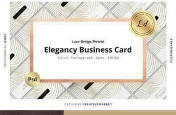 1803241 ELEGANCY Business Card Template N°01 2227798