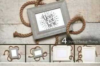 1803266 Nautical Frame Rope on White Wood 2204961 5