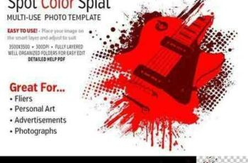 1803272 Spot Color Splat Photo Template 2228887 2