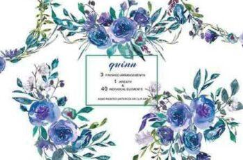 1803280 Watercolor Blue Roses 2132297 7