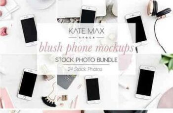 1804014 Blush Phone Mockups Stock Bundle 2233249 3