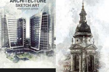 1804016 Architecture Sketch Art Photoshop Action 18366722 5