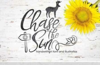 1804017 Chase The Sun. Font & illustrations 2232922 8