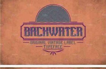 1804057 Backwater Vintage Label Typeface 2091497 9