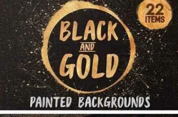 1804063 Black and Gold - painted textures 1949164 6