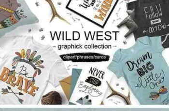 1804085 Wild West graphic collection 2078142 4