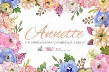 1804091 Annete floral bundle Clipart paper 2227805 8