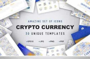 1804096 Crypto Currency Icons Set Concept 2112600 2