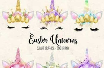 1804100 Easter Unicorn Faces clipart 2228328 5