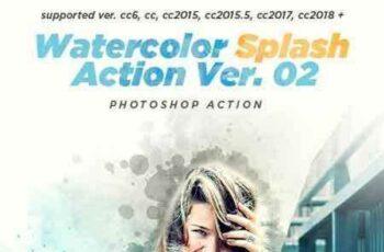 1804110 Watercolor Splash Photoshop Action Ver. 02 21461987 4