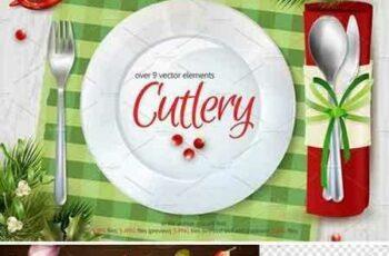 1804159 Cutlery Illustrations Set 2186009 6