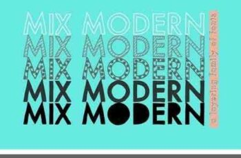 1804163 Mix Modern (Layering Font Family) 2091155 8