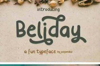 1804178 Beliday - Fun Display Font 1999510 8