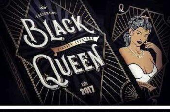 1804181 Black Queen font + bonus graphics 1980933 7
