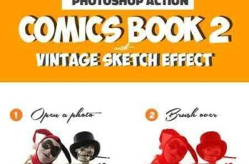 1804188 Vintage Comics with Sketch Effect Photoshop Creator 16115834 5