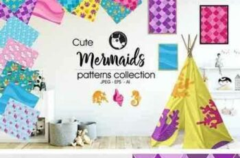 1804192 MERMAIDS Pattern collection 2018382 3