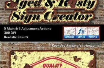 1804194 Aged & Rusty Sign Creator 16015170 3