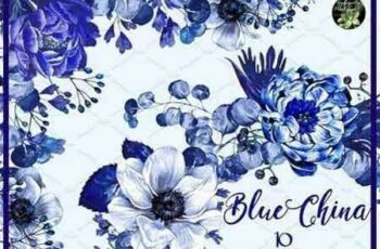 1804205 Blue China set 10 watercolor clipart 2232956 3