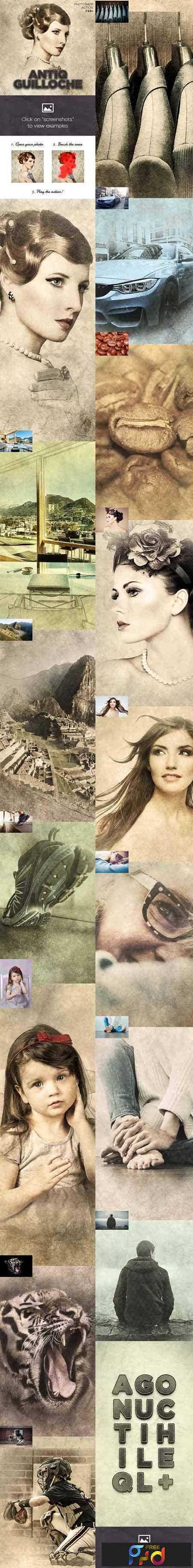 1804206 Antiq Guilloche Photoshop Action CS3+ 15956802