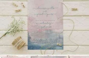 1804229 Boho Watercolor Wedding Invite Set 2225381 7