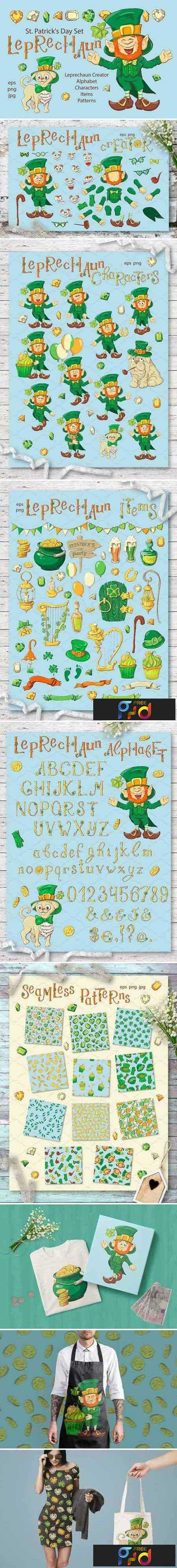 1804238 Leprechaun – St. Patrick's Day Set 2231895 1