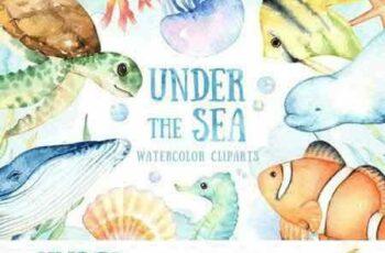 1804247 Under the Sea Watercolor Cliparts 2228491 16