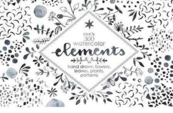 1804250 Watercolor Elements Bundle 2231296 4