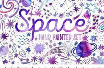 1804255 Watercolor space Cosmic set 2172187 3