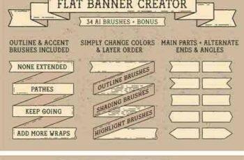 1805005 Flat Banner Creator for Illustrator 2248628 4